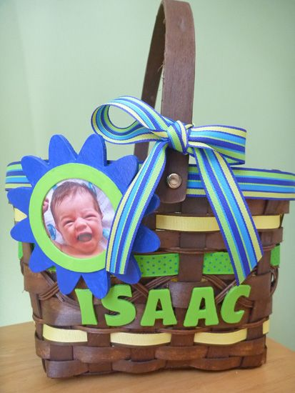 30 best easter baskets for kids images on pinterest gifts diy wicker easter basket personalized easter baskets would definately be worth saving every year cute negle Images