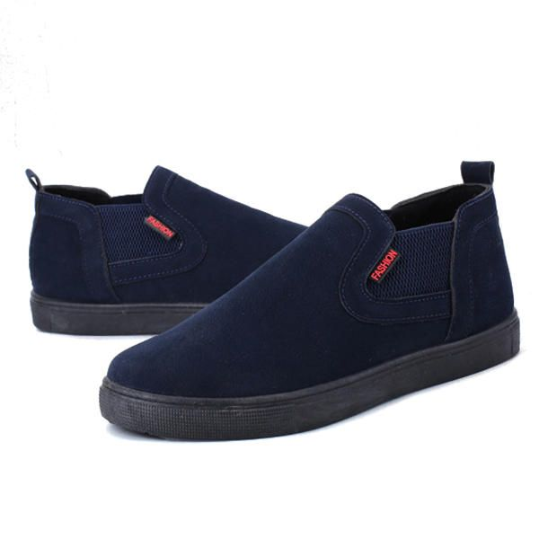 Men Low Top Soft Sole Elastic Band Slip On Sneakers - US$41.50