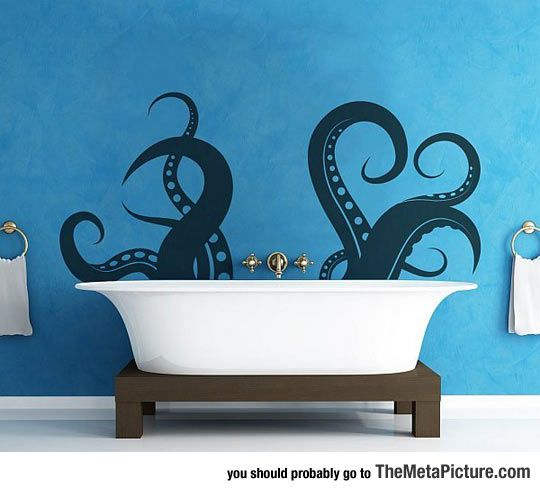Release The Kraken, I Need This Bathtub Decoration