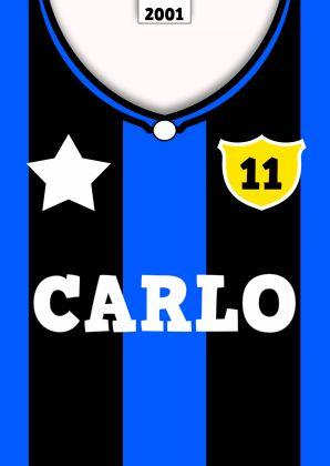 voetbal shirt tekst zelf invullen d - Verjaardagskaarten - Kaartje2go
