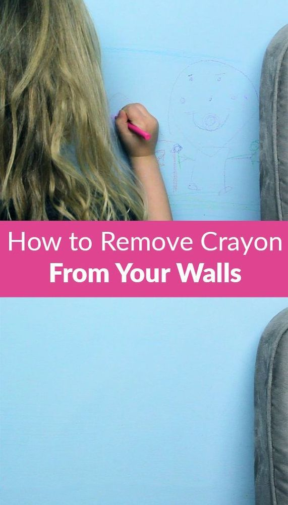 How to remove crayon from your walls cleaning helpful hints and cleaning hacks - Remove crayon walls ...