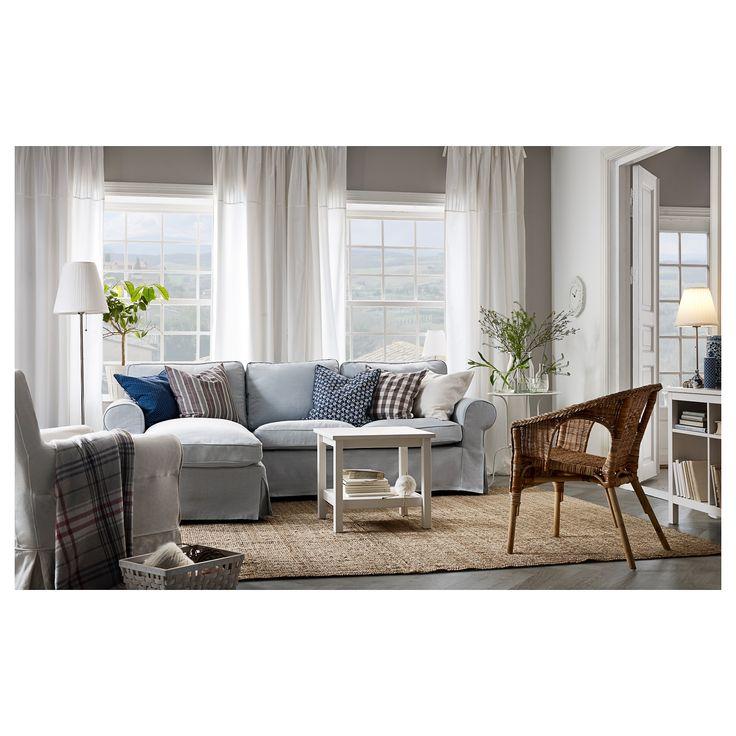 ikea ektorp sofa nordvalla with chaise light blue  sc 1 st  Home and architecture design : ikea ektorp sofa with chaise - Sectionals, Sofas & Couches