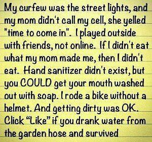 "Remember ""Kick the Can"" and ""Red Rover""?  Ah, the great memories of my childhood.....90S Kids, Childhood Memories, Old Day, Quote, Growing Up, So True, Baby Boomer, True Stories, Street Lights"
