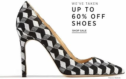 Shop now and get up to 60% discount on fashion-forward shoes at #SaksFifthAvenue