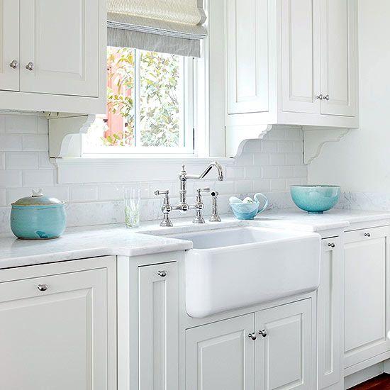 Best Farmhouse Sink Ideas Subway Tile Backsplash Turquoise 400 x 300