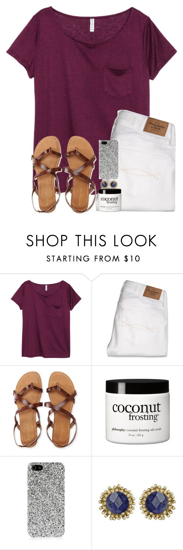 """""""Idk what to name this"""" by hgw8503 ❤ liked on Polyvore featuring H&M, Abercrombie & Fitch, Aéropostale, philosophy, Yves Saint Laurent, Kendra Scott and hgwmostlikedset"""
