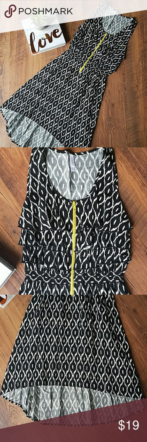 "💕 Xhiliration High Low Zip Front Dress 💕 GUC without any flaws. From armpit to armpit laid flat is approximately 15.5."" Length is approximately 34.5"" in front and 40"" in back. Always open to reasonable offers! Xhilaration Dresses High Low"