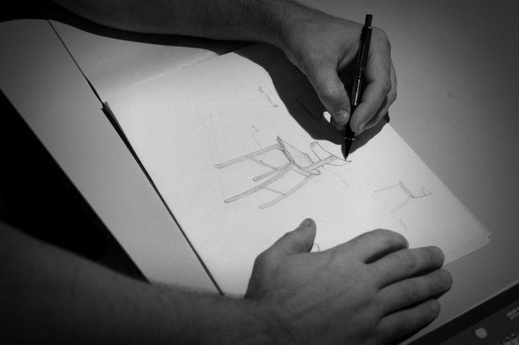 Handmade design / Dessin à la main #handcad #design #chair #chaise