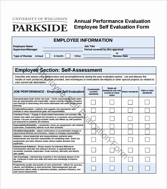 24 Employee Performance Review Template Pdf In 2020 With