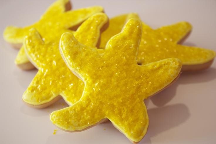 Estrellas de mar amarillas