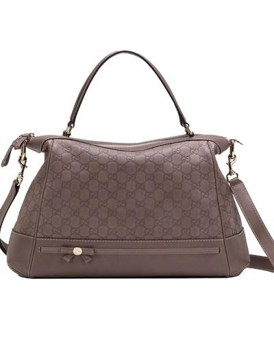 Gucci mayfair large top handle bag mauve - $459