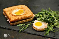 Croque madame aux œufs de caille à la Plancha @kaderick