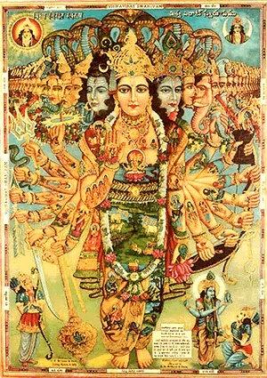 visual of chapter 11 in the Bhagavad Gita