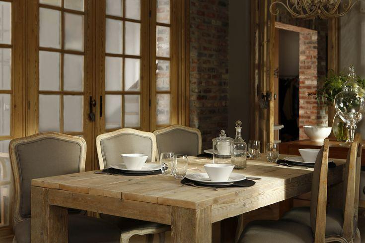 Ambiance cosy et shabby chic pour cette salle manger for Ambiance tables et chaises reims