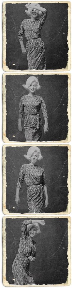 Marilyn Monroe - Photographed by Bert Stern, 1962. S)