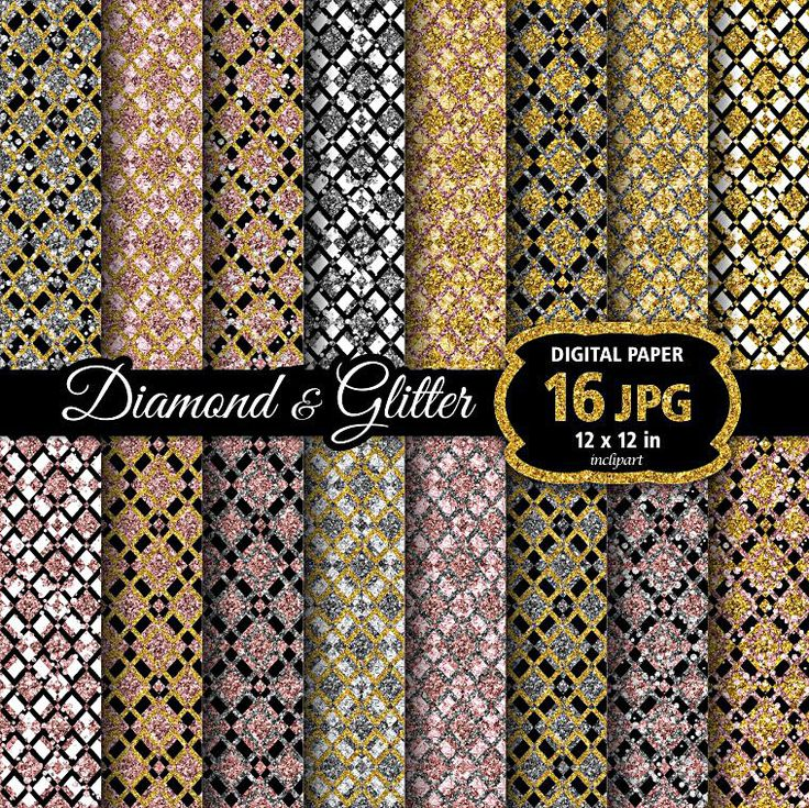 Diamond digital paper. Glitter, rhinstone background clipart. Diamond pattern. Christmas clip art. Printable. Instant download. Business use by inclipart on Etsy