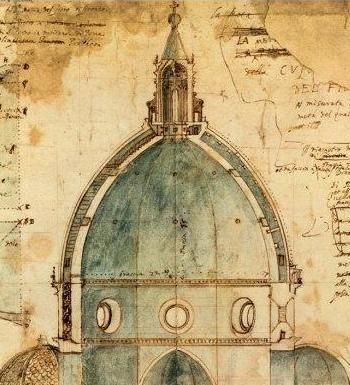 brunelleschi blueprint duomo | Dome Florence Brunelleschi