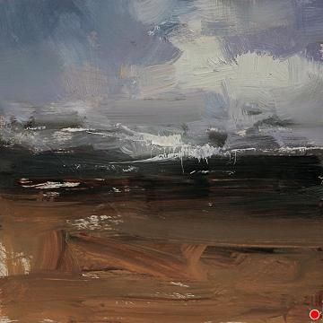 Spring Landscape by Tibor Nagy Oil ~ 8 x 8
