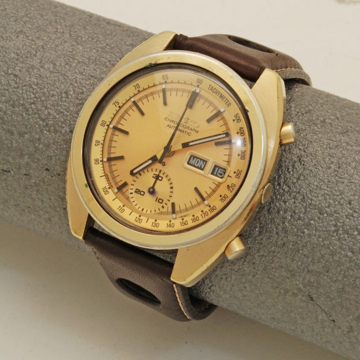 Seiko Automatic Chronograph Gents Watch Wristwatch 6139-6012 Pogue 1973