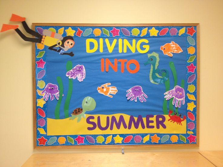Diving into summer bulletin board!