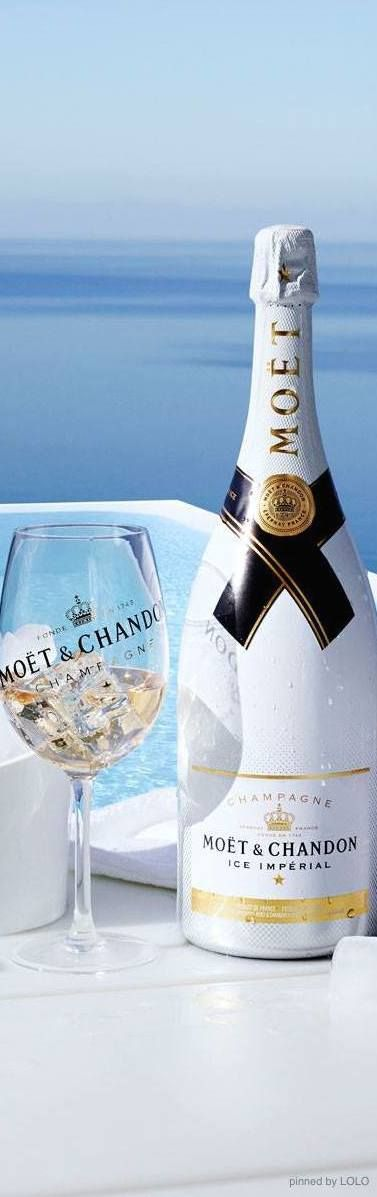 Moët & Chandon - the white bottle instantly transports you to the Cote d'Azur without having to show your passport. #Champagne #Summer