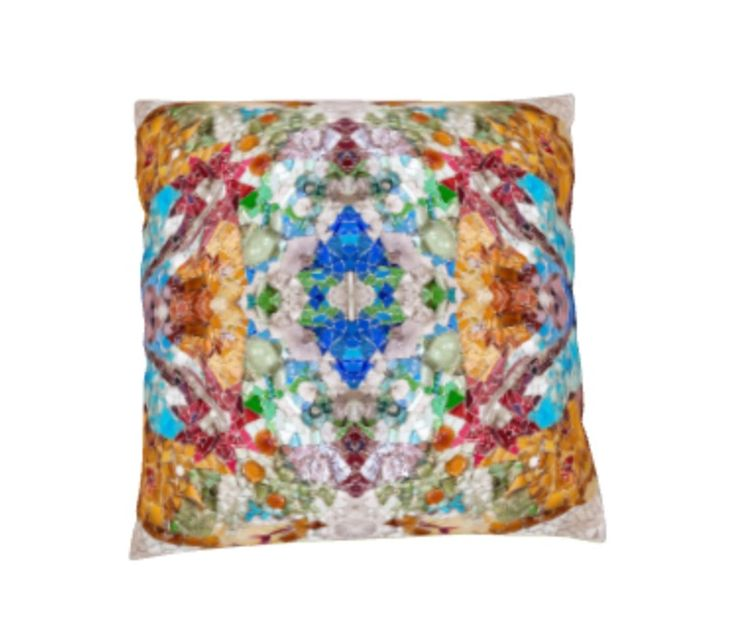 Coloured Mosaic Cushion