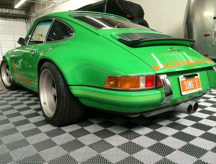 Rare Singer911 Porsche On Racedeck Garageflooring Http Www Racedeck Com Singer 911 Cool Garages Porsche