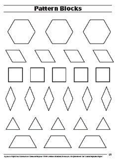 pattern block template - Google Search