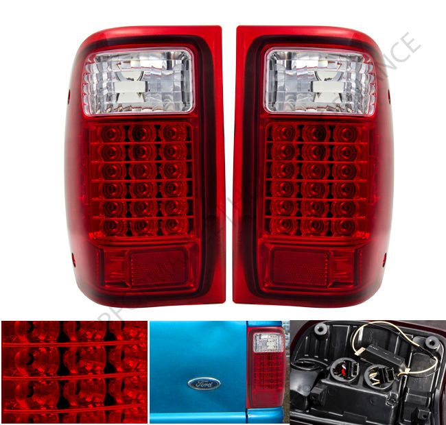 93 97 98 00 Ford Ranger Truck Red Lens New Generation 40 Led Tail Lights Pair For My 350