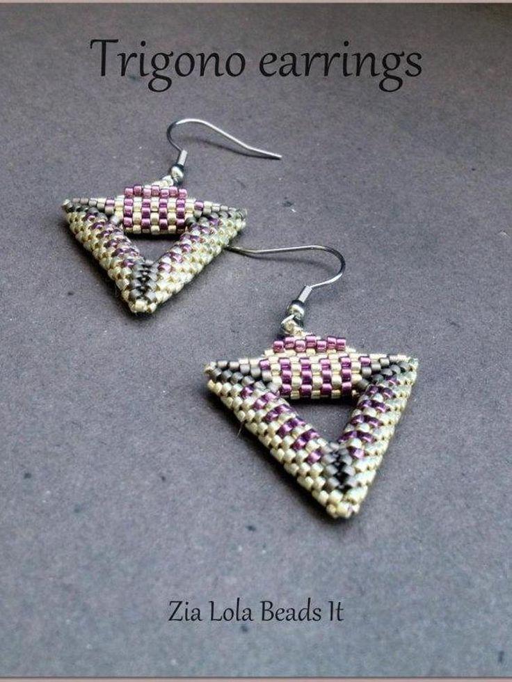 Trigono earrings | Craftsy