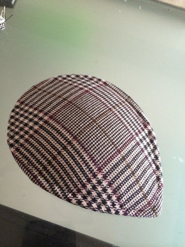 How to make a pillbox hat. Diy Plaid Facinator - Step 4