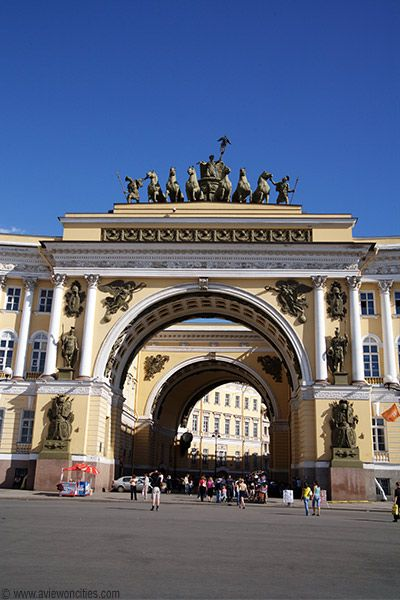 Triumphal Arch, General Staff Building - St Petersburg, Russia