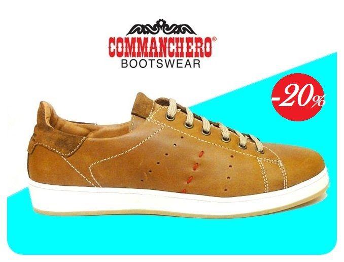 Commancero δερμάτινα αθλητικά παπούτσια για τον άνδρα!