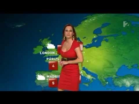 Gaál Noémi 2012 01 15 Időjárás - Sexy Hungarian Weather Forecast Girl - YouTube