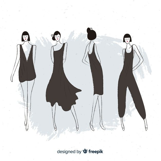 Download Sketch Collection Of Fashion Models For Free Sketches