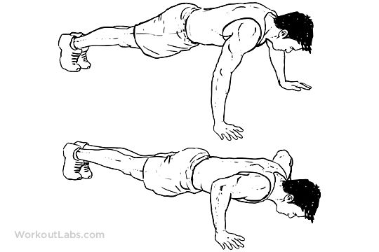 Wide Push-ups / Pushups