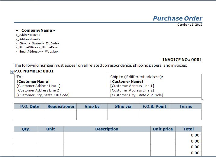 Purchase Order Template Warrior Fire Pinterest Шаблоны - are invoice and purchase order the same