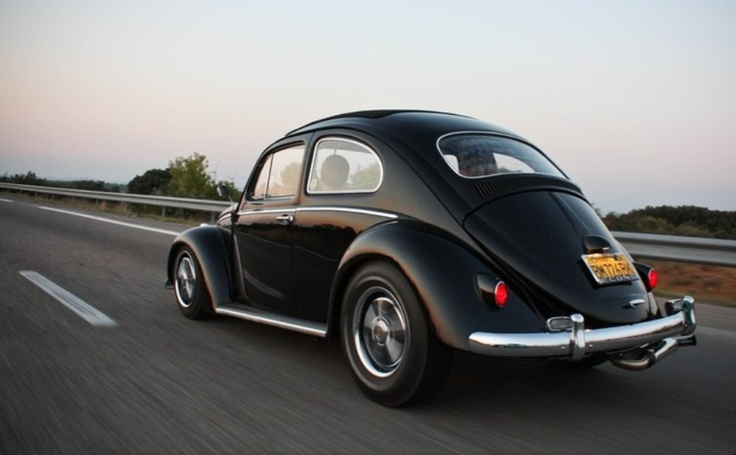 Vw Lookers >> Black VW bug cal-look Fuchs | Cars | Pinterest | VW Bugs and Black