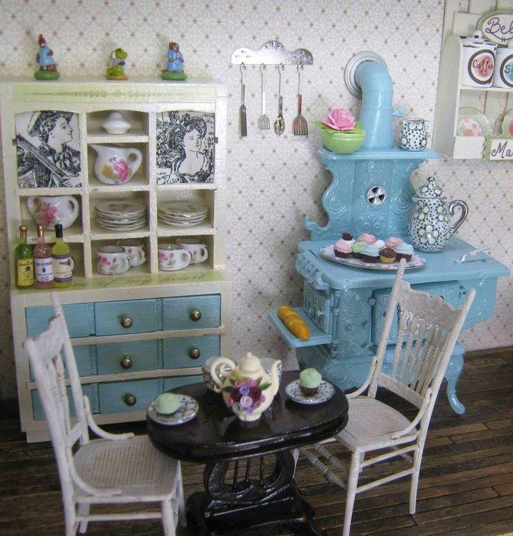 225 Best The Miniature Kitchen Images On Pinterest: 131 Best Dollhouse Kitchen Images On Pinterest
