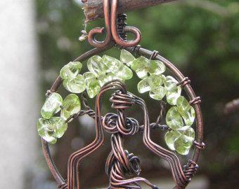 Dea Brigid albero della vita ciondolo filo di RachaelsWireGarden