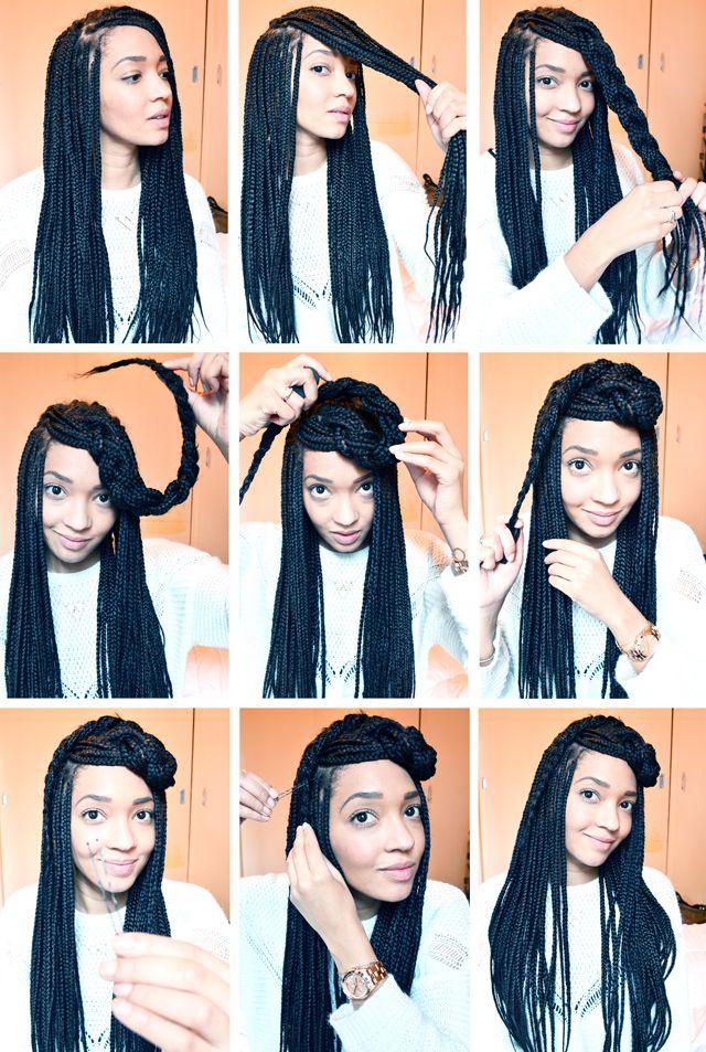 Entretien de mes box braids (+ 4 idées coiffure !).                                                                                                                                                                                 Plus