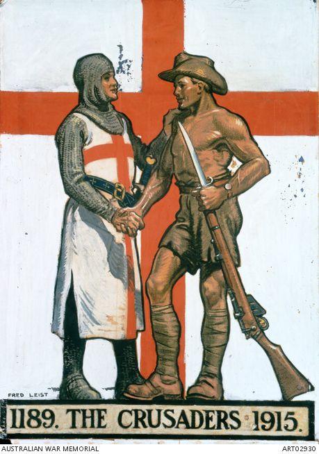 WW 1 Australian poster- crusades.  Australian War Memorial.