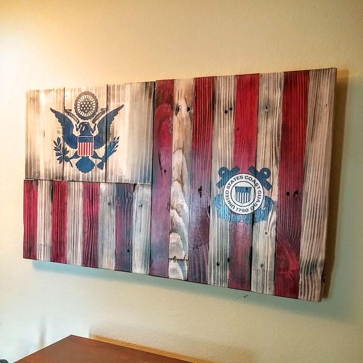 Rustic Coast Guard Ensign
