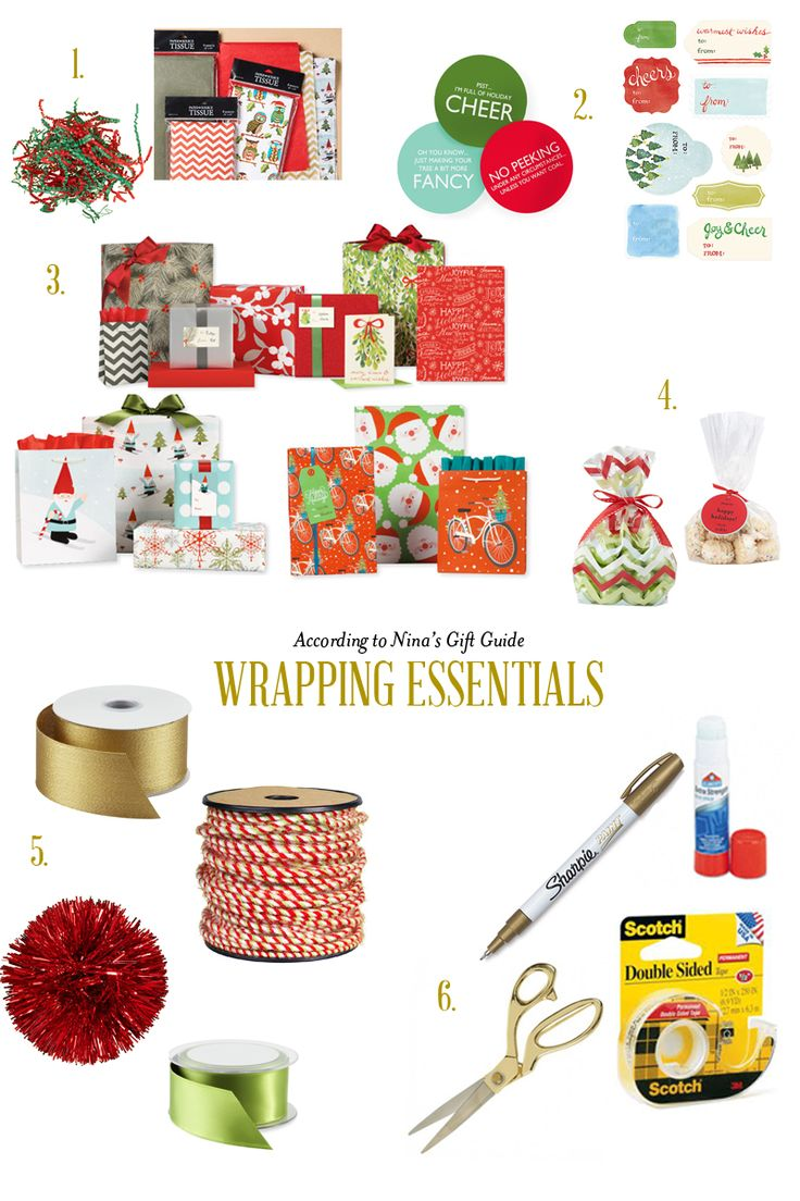 Wrapping essentials for making gift wrapping easy as 1-2-3!