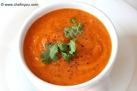 Healthy Carrot Soup Recipe | Organic delights | Pinterest