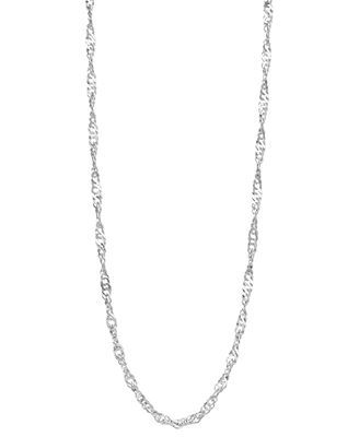 "Giani Bernini Sterling Silver Necklace, 18-20"" Twisted Singapore Chain"