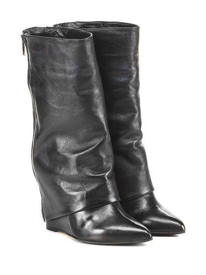THE SELLER - Stivali - Donna - Stivale in pelle con doppia zip su retro e suola…