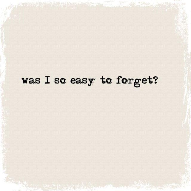 Love. Unrequited love. Heartbreak. Forgotten.