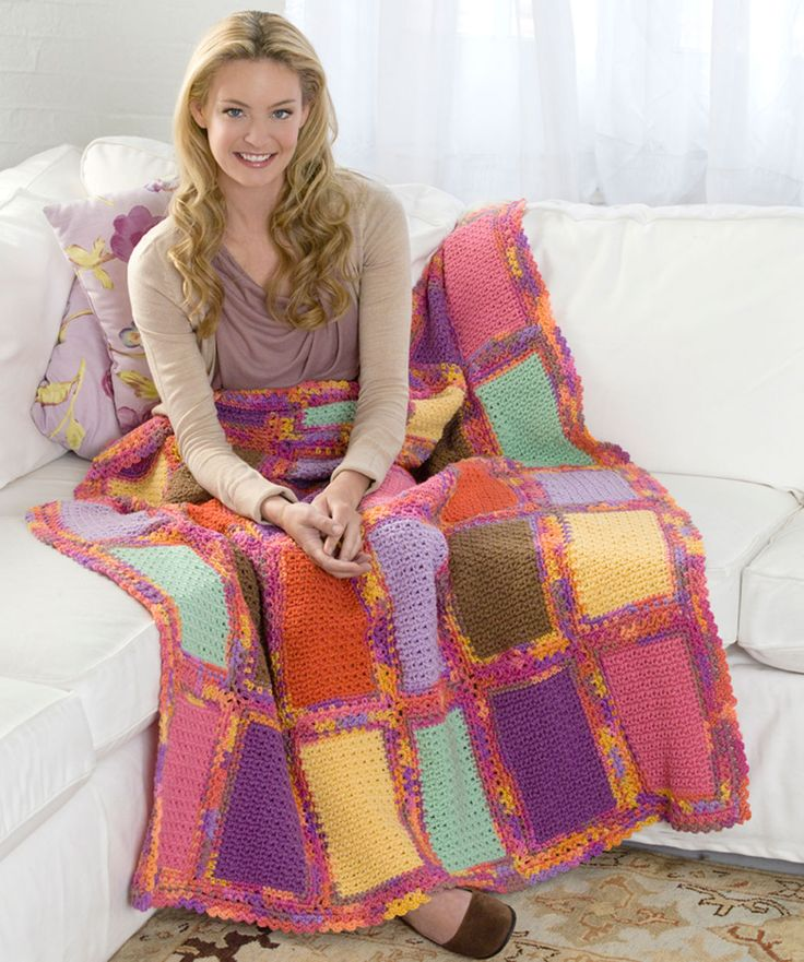 Scrap Quilt Throw: Crochet Blankets, Scrap Quilts, Quilts Throw, Crochet Afghans, Free Crochet, Red Heart, Crochet Throw, Free Patterns, Crochet Patterns