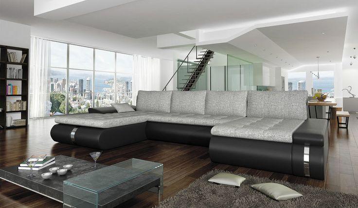 Couchgarnitur FADO LUX Couch U Sofa Sofagarnitur Polsterecke Schlaffunktion